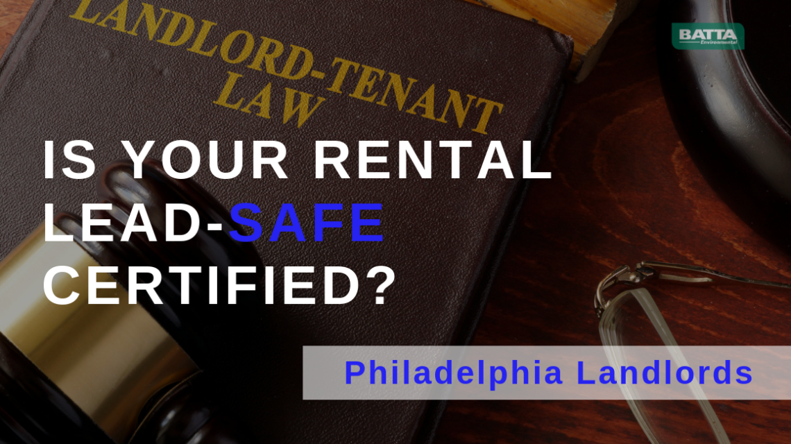 Lead-Safe Certification for Philadelphia Landlords What is a Lead Safe Certificate? Lead-Safe Certification for Philadelphia Landlords What is a Lead Safe Certificate? If you own or manage rental properties in Philadelphia, Pennsylvania, a lead safe certificate is something you need to know about. New laws in this area state that you must have all properties inspected for lead paint before you rent them to families with children, aged 6 and under. How to Obtain a Lead Safe Certificate To get a lead safe certificate for your property, you will need to hire a lead paint inspection company, such as Batta Environmental, to inspect and test your property. This inspection is valid for a period of 24 months. Lead paint inspections can be scheduled quickly. Contact Us Now! The inspection company will use special equipment to read lead levels in the walls of the property. Even if lead paint has several layers of other paint over it, the equipment can still read it. If no lead is found, a lead-free certificate will be issued. However, if lead is found, the company will stop scanning the property and begin to test for lead in the dust around the home. Treated wipes will be used to wipe the walls, floors, doors, window sills and anywhere else that dust may be gathering. These wipes are then sent to a lab for testing to determine if lead is present in the dust. If no lead is found in the dust, the property can be declared lead-safe. If lead paint is found in the home, but no lead is found in the dust, it will still be certified as lead safe, but anyone thinking about renting or who works on the property should be warned of possible contamination if the paint is disturbed, such as by driving a nail to hang a picture. What you Need to do with the Lead Safe Certificate Once you have obtained your lead safe certificate, you will need to present it to your tenant, along with the supporting documentation. After your tenant signs the paperwork, you need to send or fax a copy to the Phi